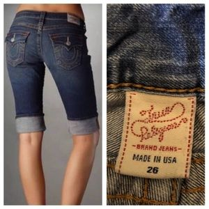 True Religion Bermuda jeans